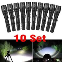Lot Tactical 350000LM 5Mode T6 Zoomable 18650 LED Flashlight Torch Aluminum Lamp