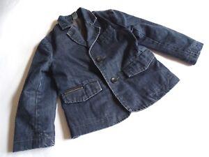 ZARA Boys Cooles dunkelblaues Jeans Sakko Jeansjacke  Gr.2-3/98