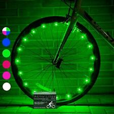 Activ Life Bicycle Tire Lights (2 Wheels, Green) Hot LED Bday Gift Ideas &