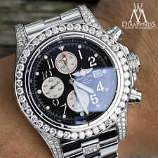 Diamond Breitling Super Avenger A13370 Black Face Middle Diamond Bracelet