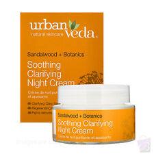 Urban Veda SOOTHING CLARIFYING NIGHT CREAM dry sensitive irritated skin 50ml