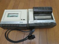 Vintage Atari 1010 1020 Printer and Cassette Player with Cord