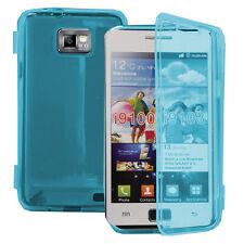 Housse Coque Portefeuille Livre BLEU Samsung Galaxy S2 i9100/ i9105G/ Plus