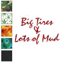 Big Tires Lots Mud Truck Decal Sticker Choose Pattern + Size #3016