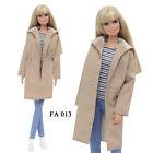 ELENPRIV FA013 beige parka for Barbie Pivotal MTM Poppy Parker and similar dolls