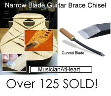 "MusicianAtHeart 1/4"" Curved Blade GUITAR BRACE CHISEL Bent Blade Luthier Tool"