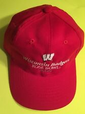 2000 WISCONSIN BADGERS ROSE BOWL Hat NCAA College Football Vintage Baseball Cap