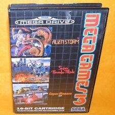 VINTAGE 1993 SEGA Mega Drive Mega Games 3 16-BIT CARTUCCIA GIOCO ALIEN STORM PAL
