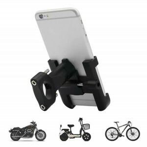 360° Motorcycle Aluminum Alloy Mount Adjustable Handlebar Rack Phone Holder BK