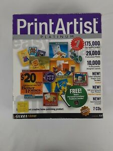 Print Artist 8.0 Platinum PC CD create full color personalised projects! 7CDs