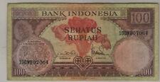 1959 Bank of Indonesia 100 RUPIAH Bill. (P191)