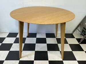 Modern Ikea Finede bamboo kitchen dining table round circle - Delivery Available