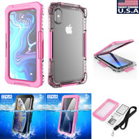 Waterproof Shockproof Full Case Cover For iPhone XS Max XS XR 6/7/6s/8+ Plus