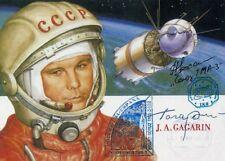 ISS 8 / Soyuz TMA-3 space flown postcard, cancelled on Gagarin 70th anniversary