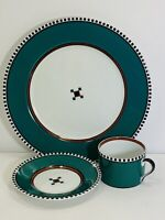 Fitz and Floyd MEZZO 3 Piece Plate Setting, Plate, Cup and Saucer 486 Japan