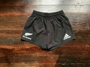 Adidas All Blacks Supporters Rugby Match Shorts Black NWOT New Zealand AIG