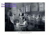 Mittag im Waisenhaus XL Kunstdruck 1914 von Emerich Knopp * † Budapest Kinder