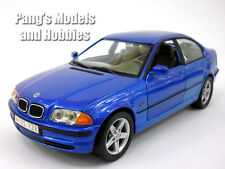 BMW 328i 1998 1/24 Scale Diecast Metal Model by Welly - BLUE