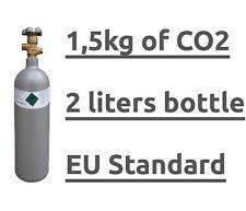 CO2 2L 1,5KG FULL GAS BOTTLE CYLINDER 2 LITRES 100% WELDING & AQUARIUM & BEER