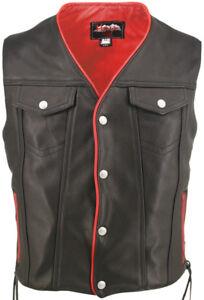 Men's Denim Style / Trim Leather Vest