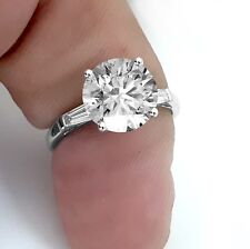 Solitaire Engagement Ring 14K W/ Gold 2.42 Ct Round Cut Fvs1 Certified Diamond