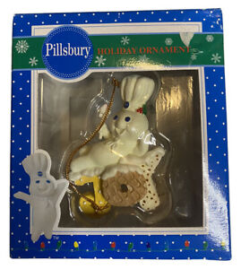 Vintage 1997 Pillsbury Doughboy Holiday Christmas Tree Ornament JOY