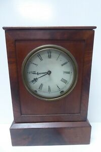 ANTIQUE VICTORIAN MAHOGANY MANTLE CLOCK