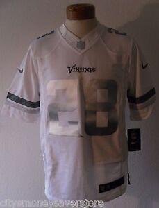 NWT Nike Adrian Peterson Minnesota Vikings Platinum Limited Jersey S White $165