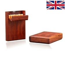 UK Handmade Exquisite Cigarette Box Handcrafted Wooden Case Hold 10 Cigarettes