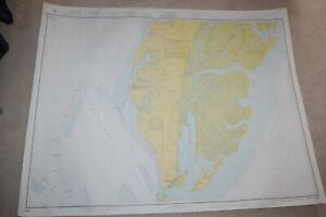 NAUTICAL CHART U.S. EAST COAST CHESAPEAKE BAY, CAPE CHARLES TO WOLF TRAP