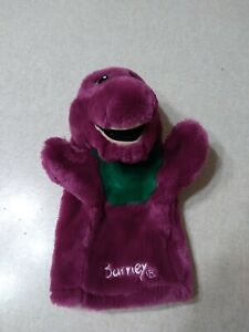 """Barney The Dinosaur Hand Puppet 9"""" The Lyons Group"""