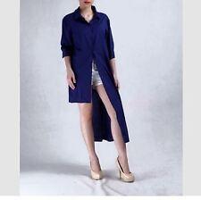 LONG DRESS 3/4 COTTON #275 Navy Blue