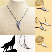Fashion Women Men Wolf Tooth Shape Stainless Steel Pendant Necklace Gift Hot