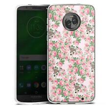 Lenovo MOTO g6 PLUS IN SILICONE GUSCIO Case Cellulare-Bambi Roses