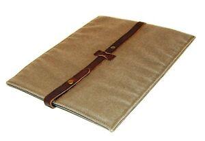 $145 Polo Ralph Lauren Tablet Canvas Envelope Document Gadget Case Sleeve Brown