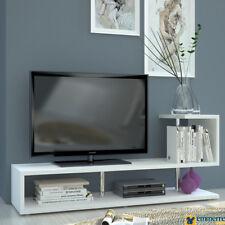 Porta Tv libreria serie living bianco lucido L.150 P.40 H.59 - art. 308647