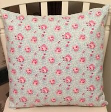 "Clarke and Clarke Noella Aqua Blue Pink Floral Shabby Chic 16"" Cushion Cover"