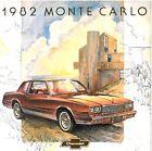 1982 Chevrolet Monte Carlo 12-page Original Dealer Sales Brochure Catalog Chevy