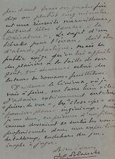 Jacques Emile BLANCHE  Lettre autographe signée à un monsieur.  Cinéma. 1928