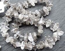 "FREEFORM HERKIMER DIAMOND QUARTZ, 6x12mm but variable, 17"" strand, 70 beads"