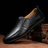 New Mens Leather Slip On Formal Loafers Driving Wedding Moccasins Dress Shoes US