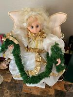 Vintage Christmas Angel Motionette Doll On Stand-electric plug in *Does Not Work