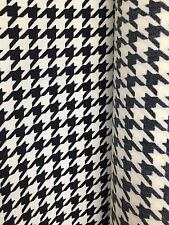 IVORY BLACK HOUNDSTOOTH CREPE FABRIC (60 in.) Sold By The Yard