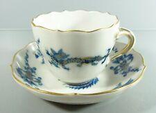 Meissen - Mokkatasse aus Meissner Porzellan - blauer reicher Ming Drache  1.Wahl