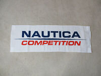 NEW VINTAGE Nautica Competition Flag Banner Store Display White Spell Out 90s