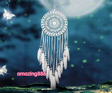 Indian Bohemia Style Dream Catcher White Feathers Dream Catcher Home Decoration