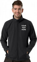 Personalised/Embroidered Black Soft shell Jacket, Size S to 8XL, Gift/Logo