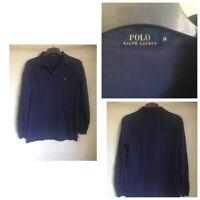 Polo Ralph Lauren Mens Navy Blue Cotton Long Sleeve T Shirt M(B170)