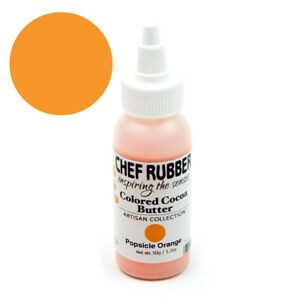 Chef Rubber Artisan Popsicle Orange Cocoa Butter, 50g/1.7 Oz