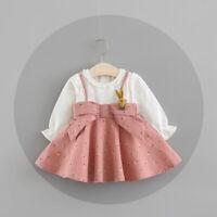 Autumn Baby Girls Clothes Bow Dress Kids Girl Clothing Skirt Infant Dresses